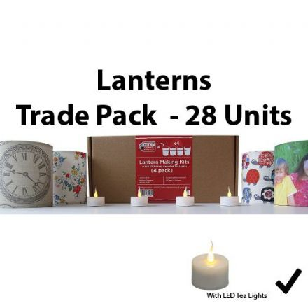 Lantern Making Kit  - 4 Pack  With Battery LED Tea Lights   x 28 units